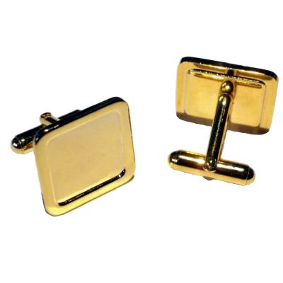 Cufflink Pair Square 16mm gold